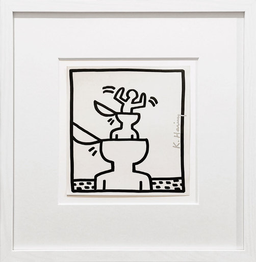Keith HARING - Estampe-Multiple - Cup Heads