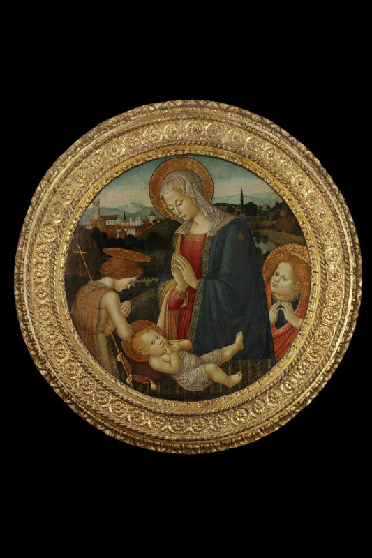 Fiorentino PSEUDO-PIER FRANCESCO - Pintura - Madonna with Child