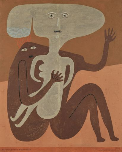 Victor BRAUNER - Painting - Accouplement d'Éléments