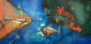 Tugomir HUBERGER - Painting - Les poissons