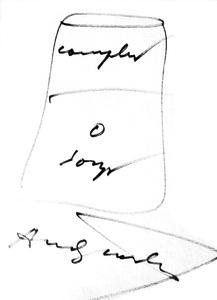 Andy WARHOL - Dibujo Acuarela - Campbell soup