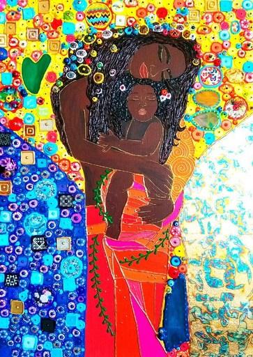 Irina BAST - Gemälde - Black mother and daughter