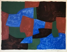 塞尔日•波利雅科夫 - 版画 - Composition bleue, verte et rouge