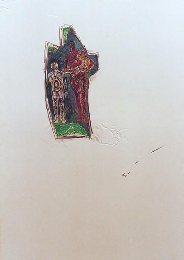 Mario SCHIFANO - Gemälde - UNTITLED - Energia famiglia