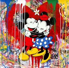 MR BRAINWASH - Pintura - True Love