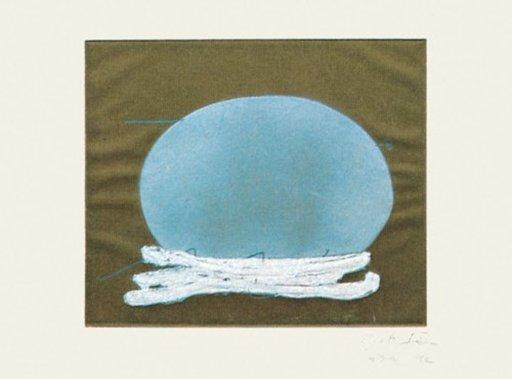 Antoni TAPIES - Print-Multiple - Oval i blanc