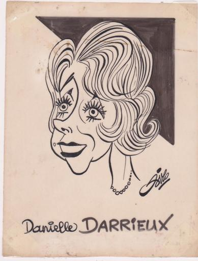 SIRO - Drawing-Watercolor - Danielle DARRIEUX - Artiste dramatique