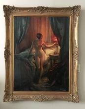 Emile TABARY - Painting - Dans La Boudoir