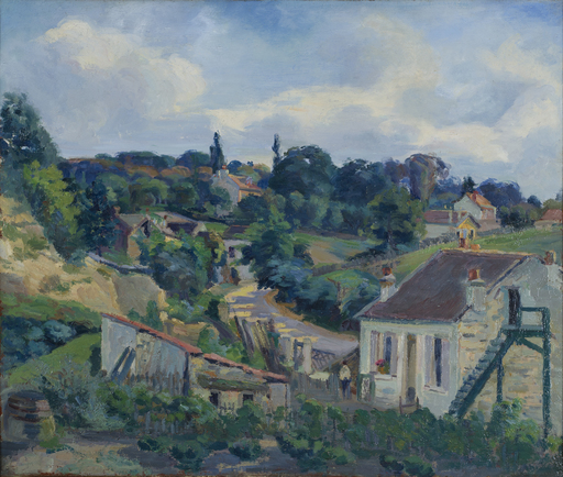 Armand GUILLAUMIN - Painting - La route tournante