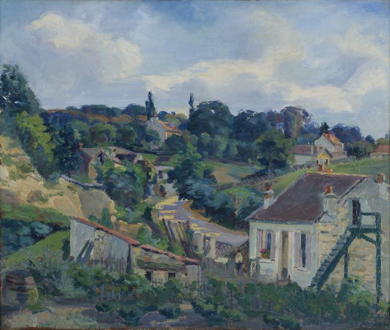 Armand GUILLAUMIN - Painting - La route tournante
