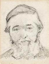 Paul GAUGUIN - Disegno Acquarello - Henri Gauguin, the Artist's Uncle (Henri Gauguin, l'oncle de