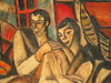 Armand SCHÖNBERGER - Pintura - Liebespaar, Lovers ,E xpressionism