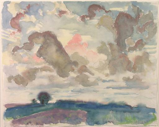 Hans BRASCH - Dessin-Aquarelle - Landschaft, 1927