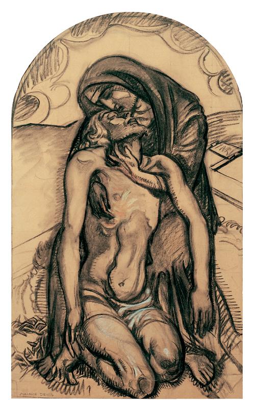 Maurice DENIS - Zeichnung Aquarell - Pietà, 1919