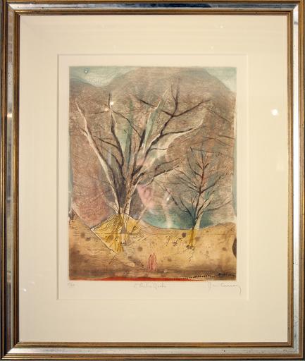 René CARCAN - Estampe-Multiple - L'arbre-roche