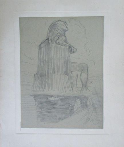 Frantisek KUPKA - Disegno Acquarello - Study for The Black Idol