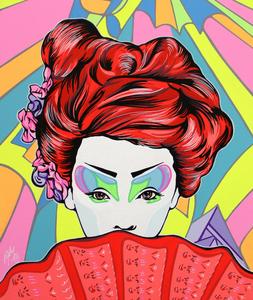 Andrea FUMAGALLI - Painting - Futurgeisha
