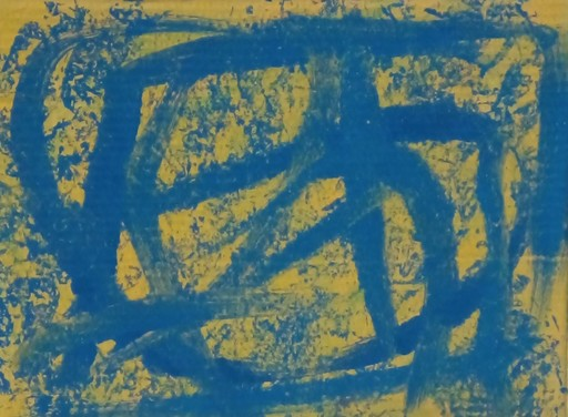 Harry BARTLETT FENNEY - Painting - blue on yellow ( 2005)
