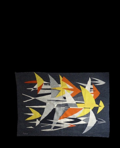 Mario PRASSINOS - Tapestry - Oiseaux et avions