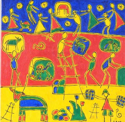 Heike KARCHER - Peinture - Der Aufbau
