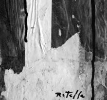 Mimmo ROTELLA - Painting - Collage circoscritto