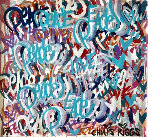 Chris RIGGS - Painting - Love and Peace 2