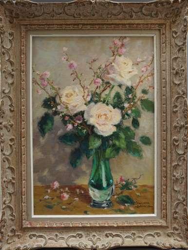 Jeanine LE BLANC - Peinture - Bouquet de Roses