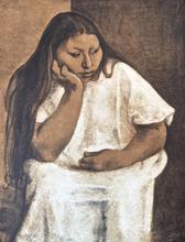 Francisco ZUÑIGA - Grabado - La Nina de Ocotlan