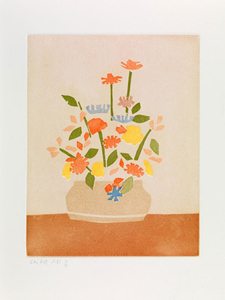 Alex KATZ, Wildflowers in Vase, 1954-55 from the portfolio Small Cuts