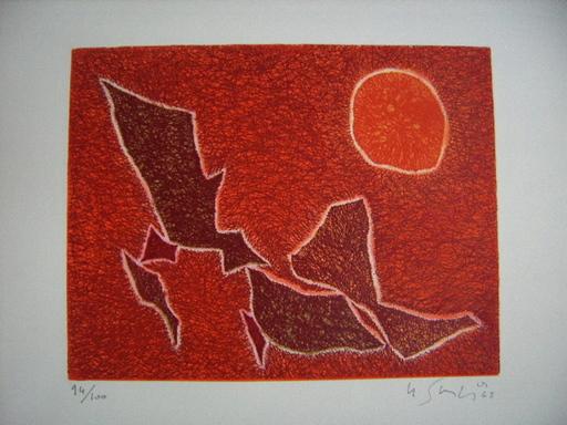 Gustave SINGIER - Estampe-Multiple - Migration solaire
