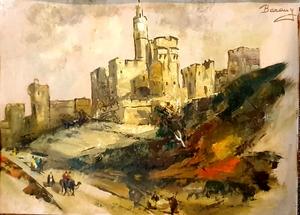 Eugene BARANY - Painting - David's Tower, Jerusalem