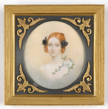 "Karl Josef Aloys AGRICOLA - Miniature - ""Portrait of a red-haired girl"" large miniature on ivory"