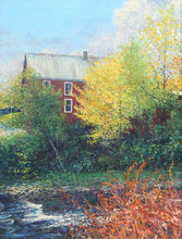 Wally AMES - Pintura - Vermont Farmhouse