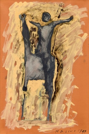 Marino MARINI - Peinture - Marino Marini Equine Painting