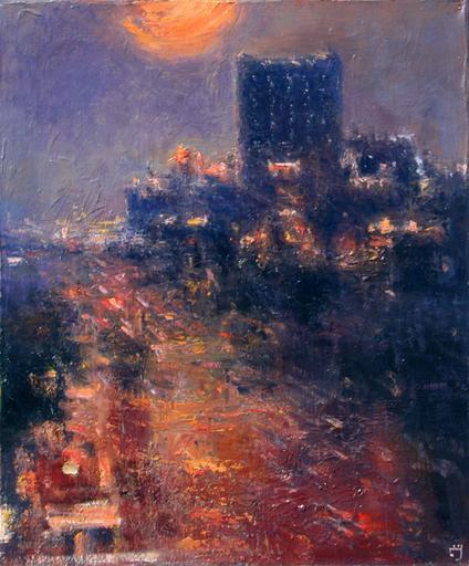 Levan URUSHADZE - Painting - Night City