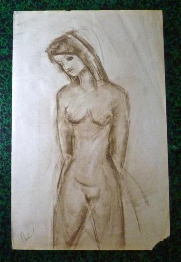 Guy CHABROL - Dibujo Acuarela - Nu féminin