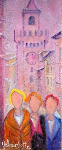 Valerio BETTA - Painting - Donne alla Pallata, Brescia-Woman in Brescia--very low price