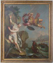 Pietro Antonio NOVELLI - Pintura - Andromeda e Perseo