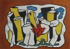 Fernand LÉGER, Red Birds in the Woods