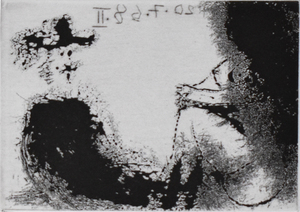 Pablo PICASSO - Print-Multiple - Seated Man and Nude, from: La Suite 347