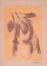 Wifredo LAM - Pintura - Untitled (Abstract Females)