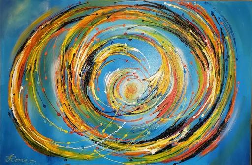 Romeo DOBROTA - Painting - Kinetic Energy,