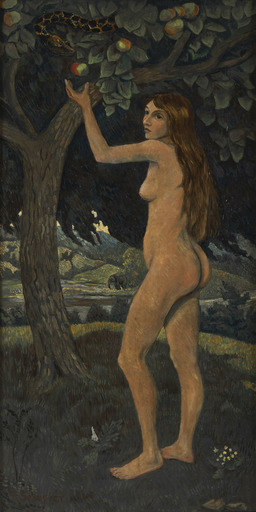 Paul SÉRUSIER - Pittura - Éve et le serpent