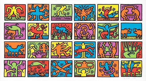 Keith HARING - Stampa-Multiplo - Retrospect