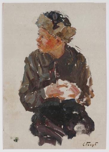 "Stepan Fillippovic GOLUB - Pintura - ""Snowball"", 1950s, Oil"
