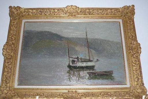 Joseph DELATTRE - Pintura - VOILIER DANS LA BRUME