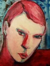 Nedzad Nedzo DURAKOVIC - Painting - Purple red 2016