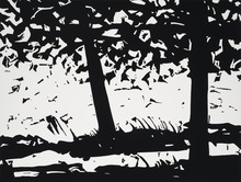 Alex KATZ - Estampe-Multiple - Maine Woods I