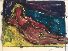 Christian DURIAUD - Peinture - Nu devant la mer