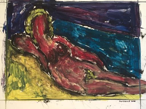 Christian DURIAUD - Pintura - Nu devant la mer